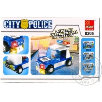 Конструктор поліцейське авто Peizhi 0305 - купити, ціни на Novus - фото 1