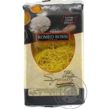 Romeo Rossi Egg Pasta Tagolini 250g