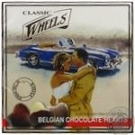 Classic Wheels Hearts with chocolate candy 200g