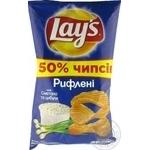Чипсы Lay's Рифленные картофельные со вкусом сметаны и лука 200г