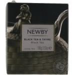 Чай Newby Black Tea & Thyme