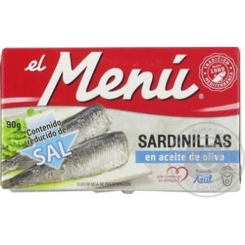 Сардини el menu в оливковій олії FRANCISCO 90г х30