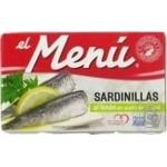 Сардины El Menu с лимоном в подсолнечном масле 90г