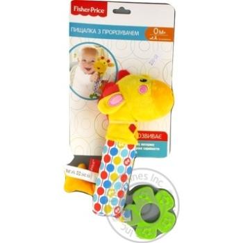 Іграшка пискавка з прорізувачем арт. GH73100 Жирафа Fisher Price - купить, цены на МегаМаркет - фото 1