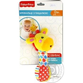 Іграшка брязкальце пискавка арт. GH73149 Жирафа Fisher Price  19