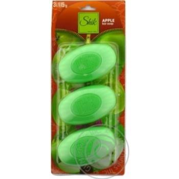 Мыло туалетное Шик Зеленое яблоко 3х115г - купить, цены на Фуршет - фото 3
