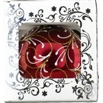 Куля Візерунок новорічний на коричневому.д.85мм Галімпекс