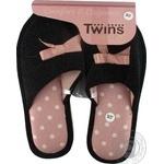 Тапочки Twins женские домашние черные 36-37р