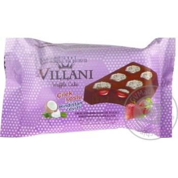 Вафли Villani шоколадные с клубничным кремом 50г - купить, цены на Ашан - фото 3