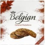 Конфеты шоколадные Belgian Chocolate медальоны с карамельной начинкой 200г