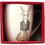 Чашка Keramia Модные звери - Мисс Кроль 360мл
