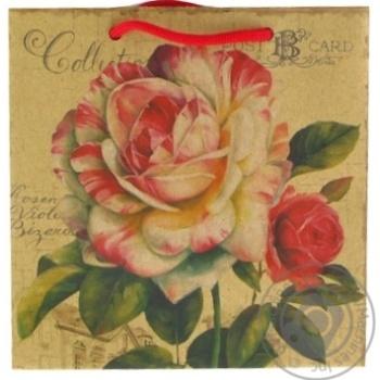 Пакет подарунковий 15х7,5х15см в асортименті - купити, ціни на CітіМаркет - фото 1