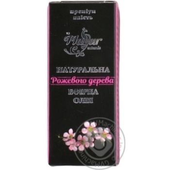 Масло эфирное розового дерева Mayur 5мл - купить, цены на МегаМаркет - фото 1