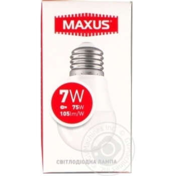 Лампа світлодіодна Maxus 1-LED-746 G45 7W 4100K 220V E27