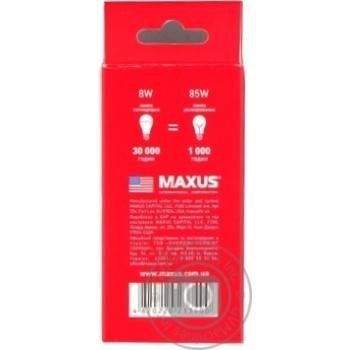 Лампа Maxus светодиодная A55 8W E27 3000K - купить, цены на Novus - фото 2