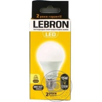 Лампа Lebron LED A65 Е27 3000K 1350лм 15Вт