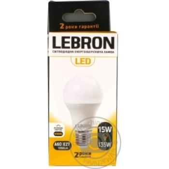 Лампа Lebron светодиодная A65 15W Е27 4100K - купить, цены на Ашан - фото 1