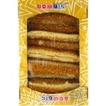 Печенье сдобное слоеное Бом-Бик классная палочка соленая с кунжутом 250г
