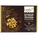 Сахар Саркара продукт коричневый нерафинированный тростниковый прессованный 250г