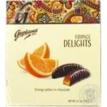 Конфеты Goplana Delights апельсиновое желе в шоколаде 190г