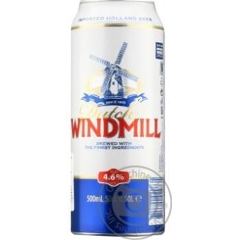 Пиво Dutch Windmill світле 4,6% 0,5л - купити, ціни на МегаМаркет - фото 1