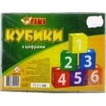 Игра настольная Tiki Кубики с цифрами