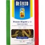Макароны De Cecco пенне ригате триколор 500г