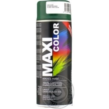 Maxi Color Universal Dark Green Enamel 400ml - buy, prices for MegaMarket - image 1