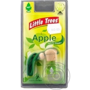 Освежитель воздуха Little Trees автомобильный Bottle Яблоко - купить, цены на МегаМаркет - фото 1