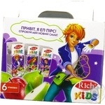 Rich kids Set of nectars with a stickerbook 6 pieces 0,2l