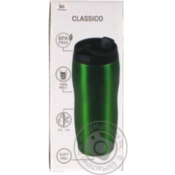 Термокружка Bergam зелений 400мл - купити, ціни на МегаМаркет - фото 1