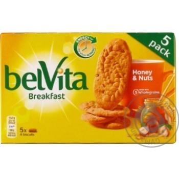 Печенье Belvita с медом и орехами 225г - купить, цены на Novus - фото 1