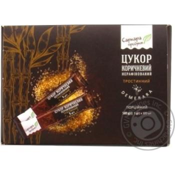 Сахар Саркара коричневый рафинированный тростниковый стик 100х5г - купить, цены на Novus - фото 1
