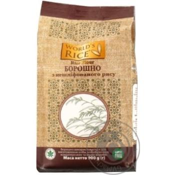 Борошно з нешліфованого рису World's Rice 900г - купити, ціни на Метро - фото 1
