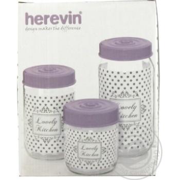 Банка HEREVIN Pastel MIX /НАБІР/3х0.5, 0.66, 1 л - купить, цены на Novus - фото 1