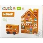 Cubika Wooden Constructor Home 37pcs. - buy, prices for MegaMarket - image 1