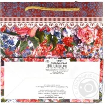Пакет подарунковий Королівство подарунків дизайн Середній - купити, ціни на Фуршет - фото 2