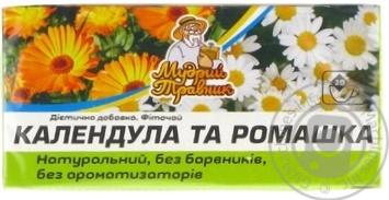 Фиточай Мудрый Травник Календула и Ромашка в пакетиках 20х2г - купить, цены на Novus - фото 1
