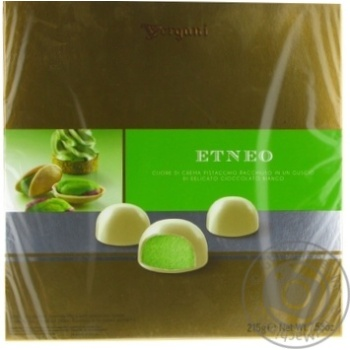 Vergani Etneo With Pistachio Cream Filling In White Chocolate Candies 215g
