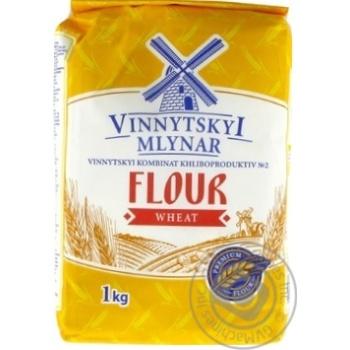 Мука Винницкий Млинар пшеничная высший сорт 1кг - купить, цены на МегаМаркет - фото 1