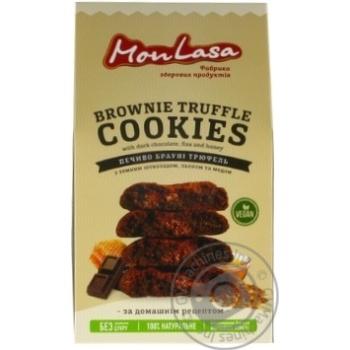 Печенье Mon Lasa Брауни трюфель 120г - купить, цены на МегаМаркет - фото 1