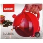 Чайник заварочний Banquet Bulbus 1,25л в асортименті - купити, ціни на МегаМаркет - фото 2